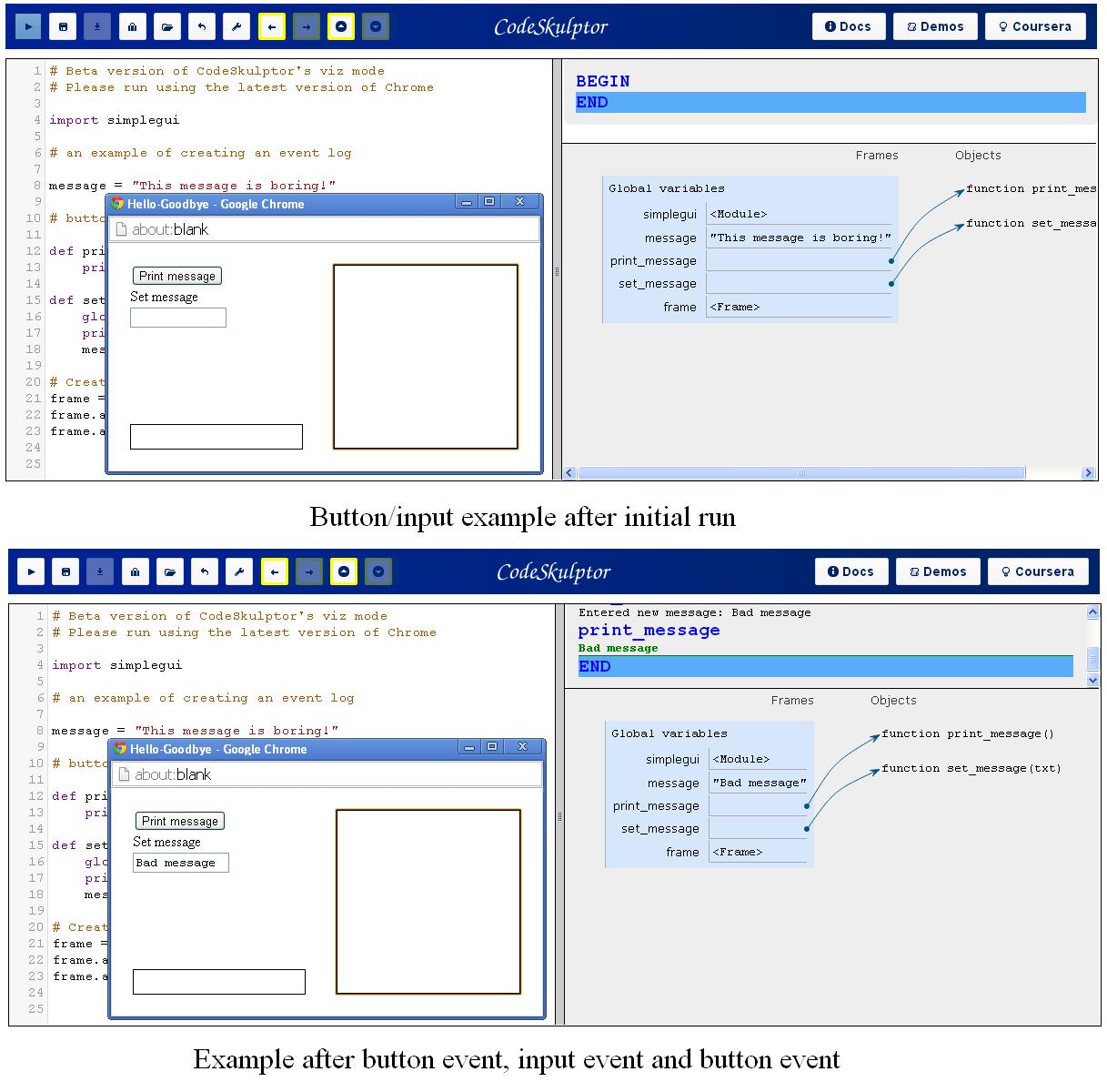 Firing button/input events