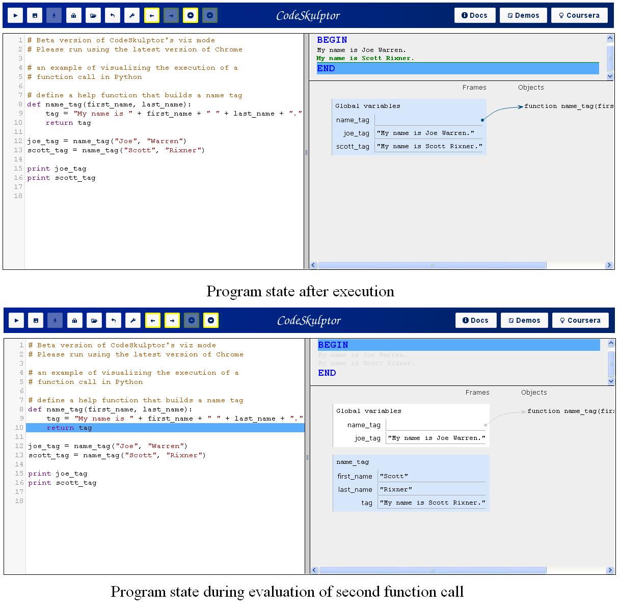Visualizing program state