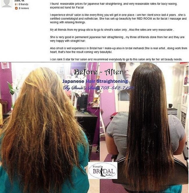 Best Japanese Hair Straightening Salon AldieLoudoun County