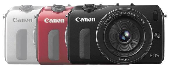 Canon EOS M colour variants