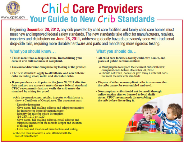 CPSC Guide to New Crib Standards