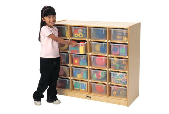 20-Tray Mobile Storage with Clear Trays