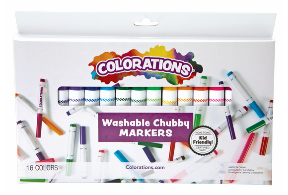 Colorations® Washable Chubby Markers - Set of 16