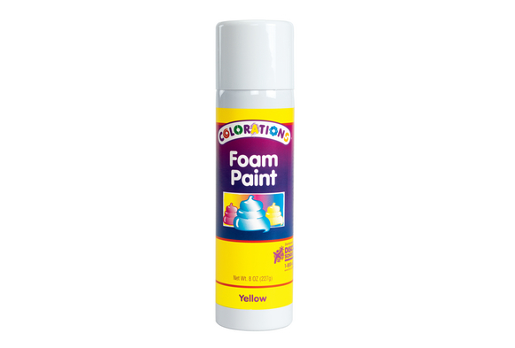 Colorations® Yellow No-Drip Foam Paint, 8 oz.