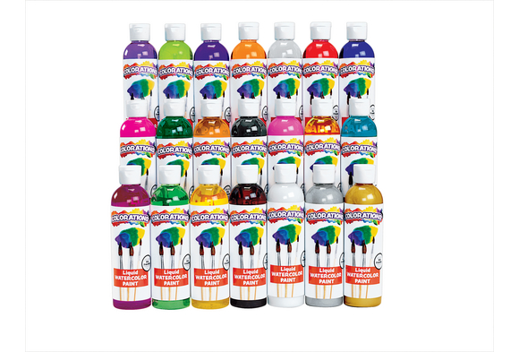 Colorations® Liquid Watercolor Paints, 8 oz. - Set of 21