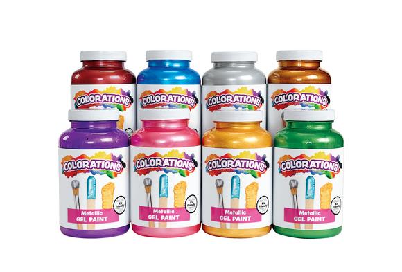 Colorations® Metallic Paints, 16 oz. -  Set of 5
