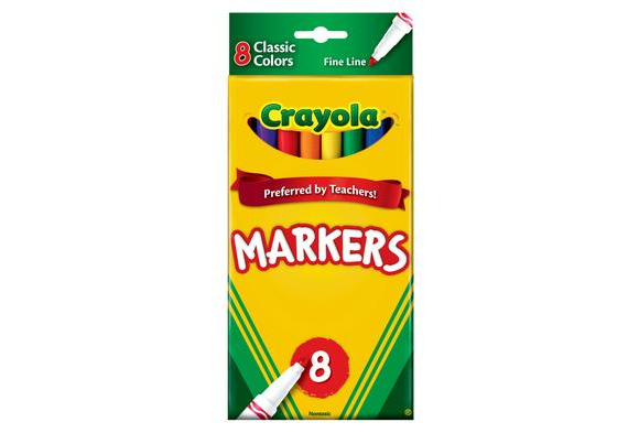 Crayola® Classic Fine Tip Markers - Set of 8