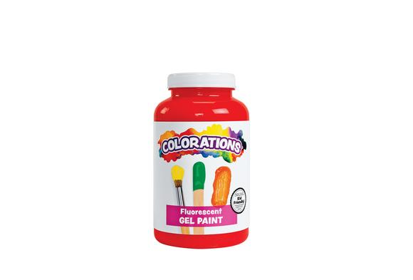 Colorations® Activity Paint, Fluorescent Red - 16 oz.
