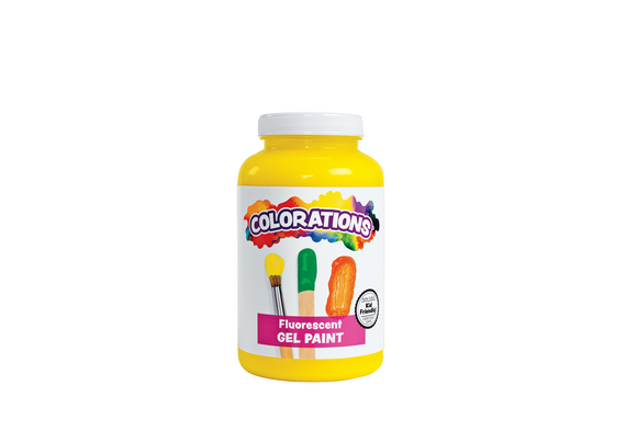 Colorations® Activity Paint, Fluorescent Yellow - 16 oz.
