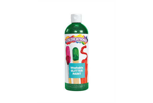 Green Colorations® Washable Glitter Paint - 16 oz.