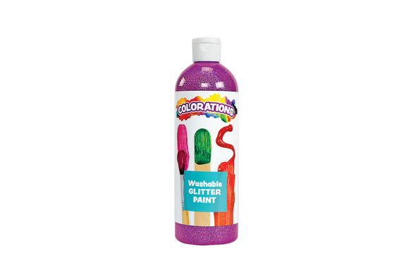 Colorations® Washable Glitter Paint, Purple - 16 oz.