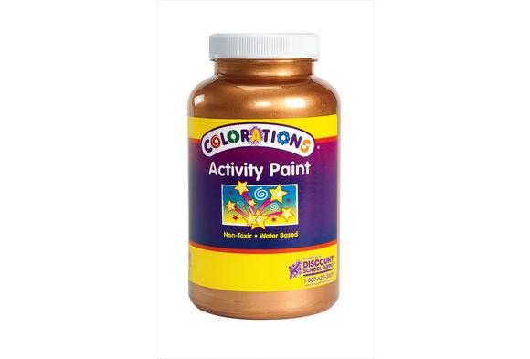 Colorations® Activity Paint, Metallic Bronze - 16 oz.