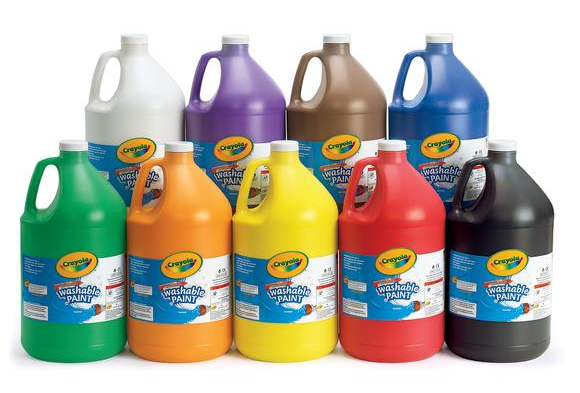 Brown Crayola® Washable Paint, 1 Gallon