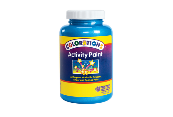 Colorations® Activity Paint, Sparkle Blue - 16 oz.