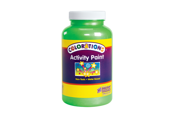 Colorations® Activity Paint, Sparkle Green - 16 oz.