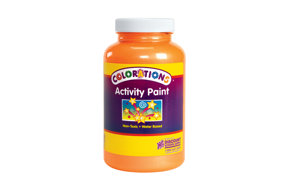 Colorations® Activity Paint, Sparkle Orange - 16 oz.