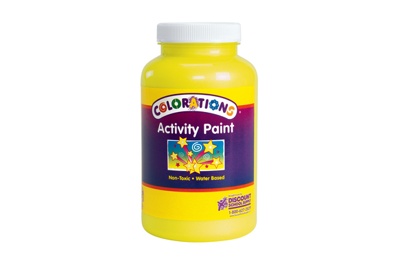 Colorations® Activity Paint, Sparkle Yellow - 16 oz.