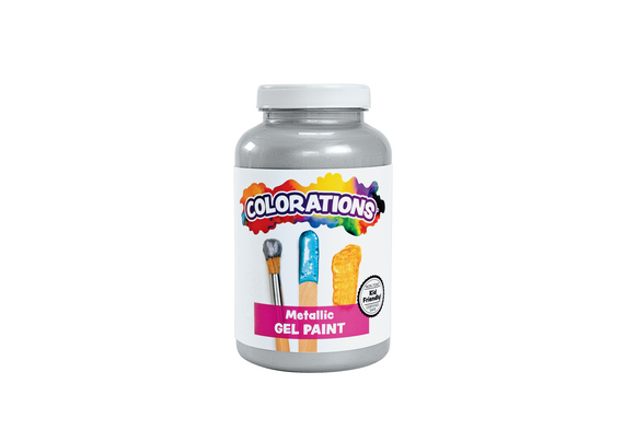 Colorations® Activity Paint, Metallic Silver - 16 oz.