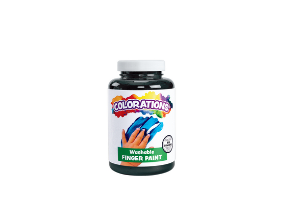 Colorations® Washable Finger Paint, Black - 16 oz.