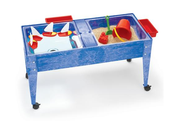 Double-Well Sand and Water Activity Table with Clear Liner