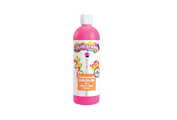 BioColor® Paint, Fluorescent Pink - 16 oz.