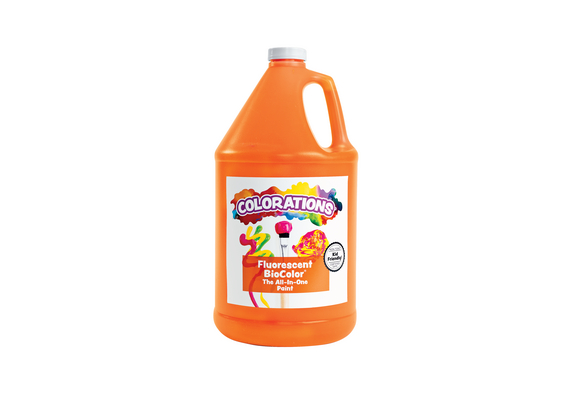 BioColor® Paint, Fluorescent Orange - 1 Gallon