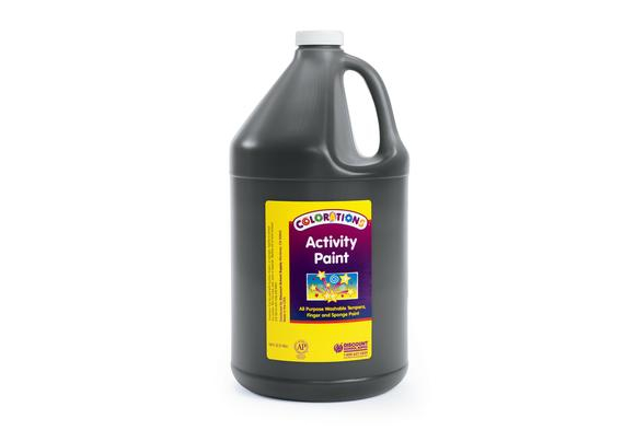 Colorations® Activity Paint, Black - 1 Gallon