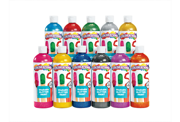 Colorations® Washable Glitter Paints, 16 oz. - Set of 11