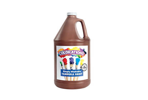 Colorations® Simply Washable Tempera Paint, Brown - 1 Gallon