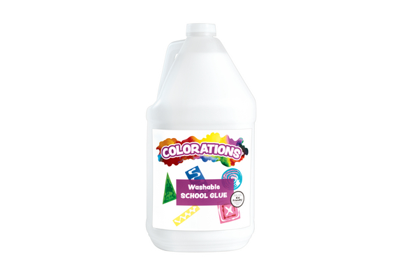 Colorations® Washable White School Glue - 1 Gallon