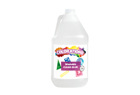 Colorations® Washable Clear Glue, Gallon