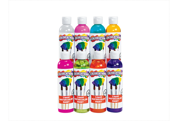 Colorations® Tropical Colors Liquid Watercolor Paint, 8 oz. -  Set of 8
