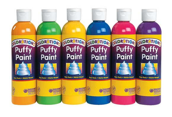 Colorations® Colored Puffy Paints, 8oz. - Set of 6