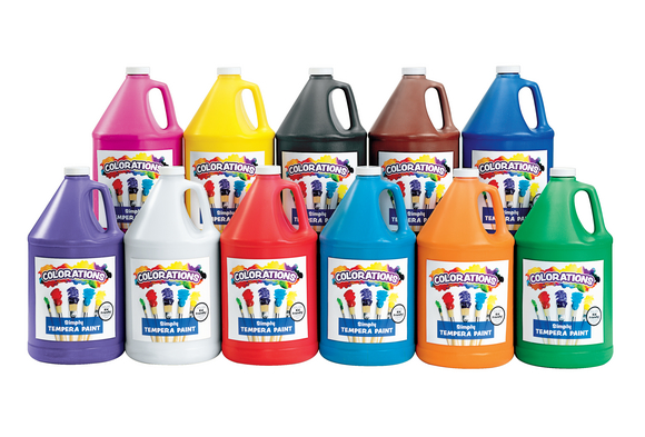 Colorations® Simply Tempera Paints, Gallons - Set of all 11