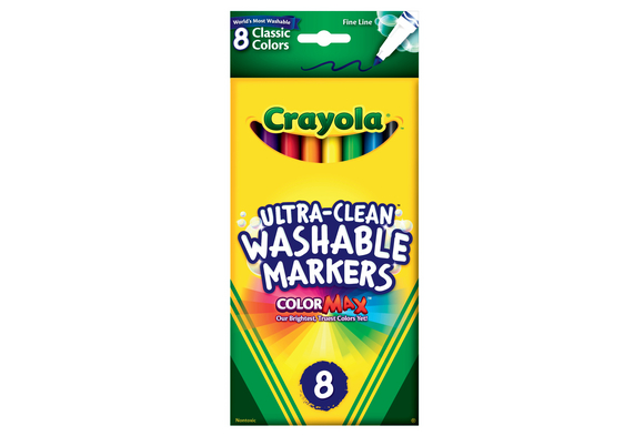 Crayola® Fine Tip Ultra-Clean Washable™ Markers - Set of 8