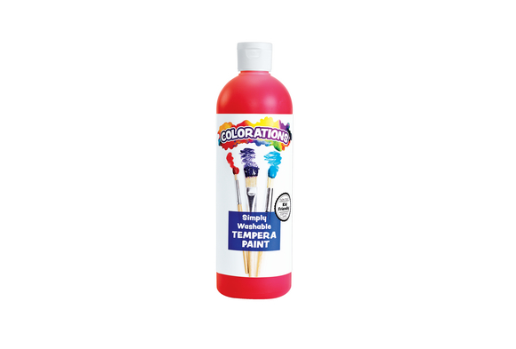 Colorations® Red Simply Washable Tempera, 16oz.