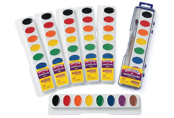 Colorations® Best Value Washable Watercolor - Single Refill, 8 Colors