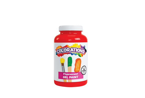 Red Colorations® Fluorescent Activity Paint, 16 oz.