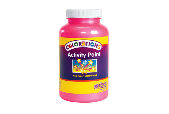 Colorations® Activity Paint, Sparkle Pink - 16 oz.