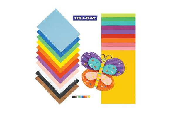Tru-Ray® Purple Sulphite Construction Paper, 12
