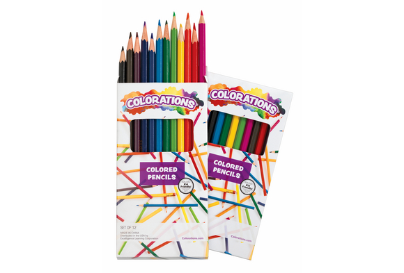 Colorations® Regular Colored Pencils - Set of 24