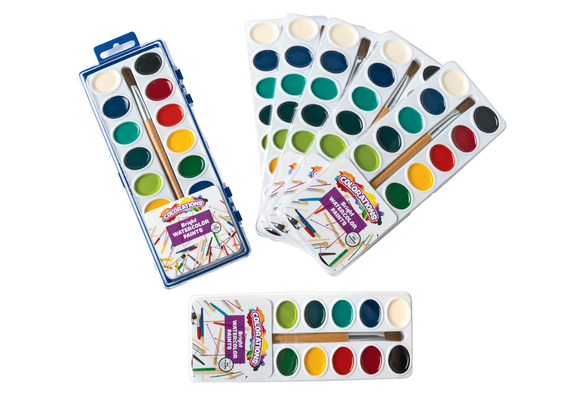 Colorations® 16 Colors Best Value Regular Watercolor Paint Refills - Set of 6