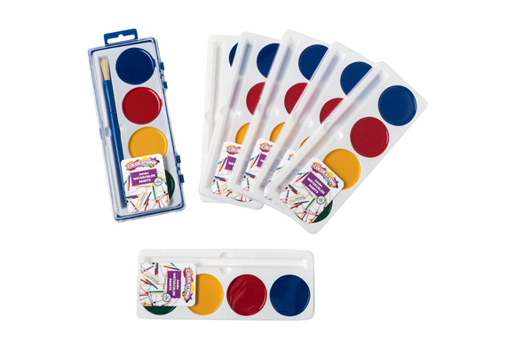 Colorations® 4 Best Value Jumbo Washable Watercolors - Set of 6 Refills