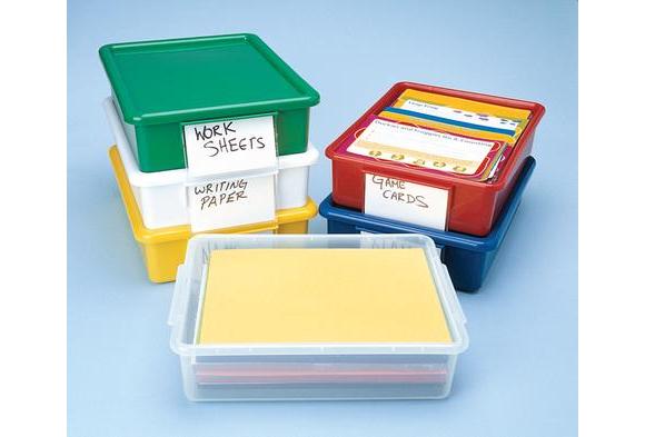 Easy Label Teaching Tote Lid