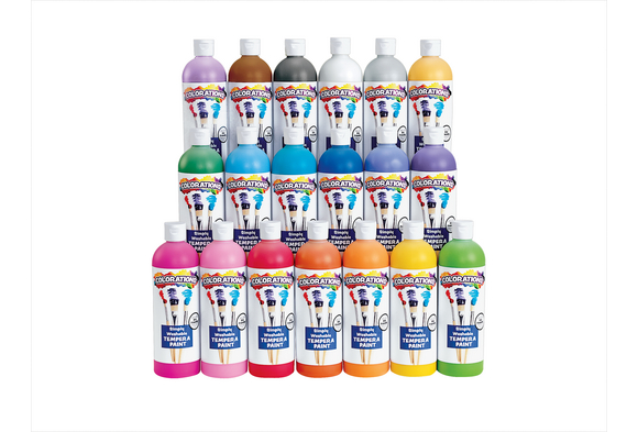 Colorations® Simply Washable Tempera Paints, 16 oz. - Set of 17