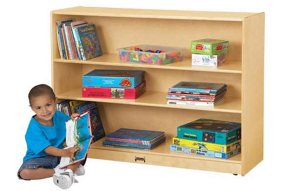 Jonti Craft® Super Sized Mobile Adjustable Bookcase Without Lip