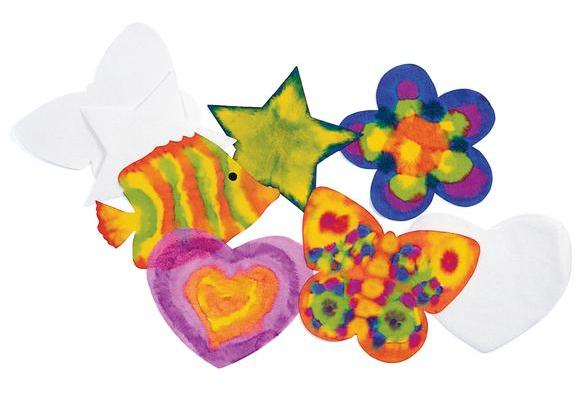 Liquid Watercolor™ 100 Paper Super Shapes, 5 Designs - 100 Sheets