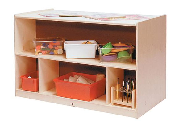 Toddler Double Sided Storage Unit