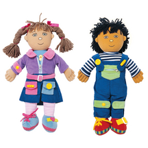 Boy and Girl Dressing Dolls - Set of 2