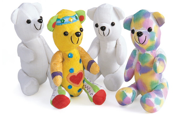 Colorations® Decorate Your Own Teddy Bear - Set of 12